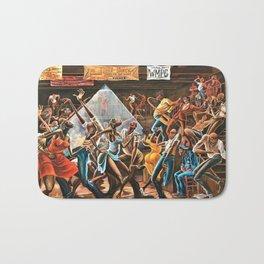 1970's Harlem Renaissance African American Sugar Shack Painting Bath Mat