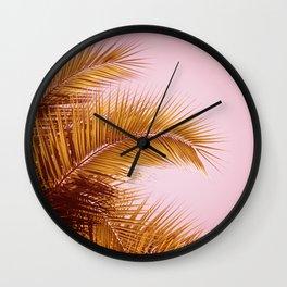 Rose Gold Tropics Wall Clock
