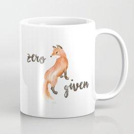 zero fox given mug Coffee Mug