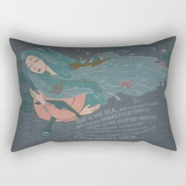 She is the Sea Rectangular Pillow