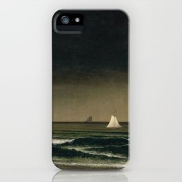 Approaching Storm by Martin Johnson Heade, 1861 iPhone Case