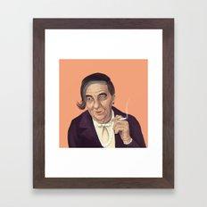 The Israeli Hipster leaders - Golda Meir Framed Art Print