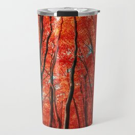 Red Forest of Sunlight Travel Mug