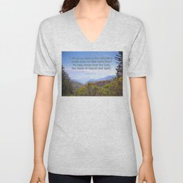My help comes from the Lord Unisex V-Neck