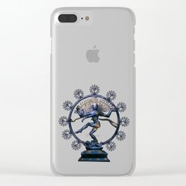 Shiva Nataraj, Lord of Dance (an actual factual fractal) Clear iPhone Case