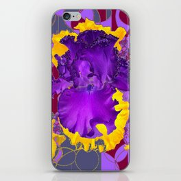 Amethyst Purple Iris Geometric lilac & Grey Patterns iPhone Skin