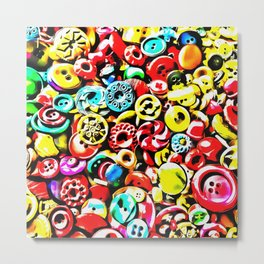 Too Many Buttons Metal Print