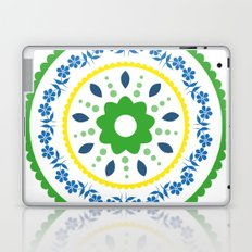 Green suzani inspired floral round placement Laptop & iPad Skin