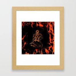 Breathing in Red Fire Framed Art Print