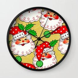 polka dot santa Wall Clock