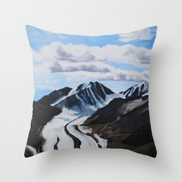 Glaciers Denali National Park Throw Pillow