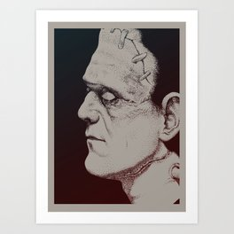 Monster Masters: Boris Karloff Art Print
