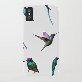 Watercolor Hummingbirds iPhone Case