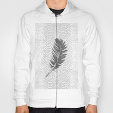 Lovely grey feather Hoody