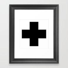 Graphic_Cross Framed Art Print