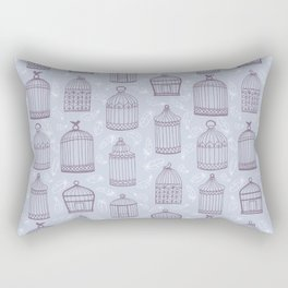 Birdcages Rectangular Pillow