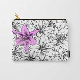 Pink lilium Carry-All Pouch