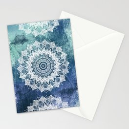 BOHOCHIC MANDALAS IN BLUE Stationery Cards