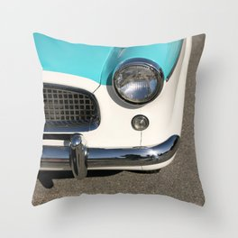 Vintage Car Headlight Throw Pillow