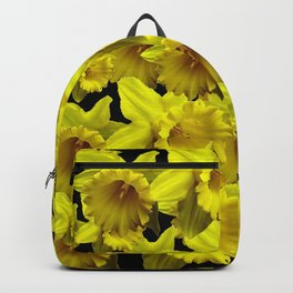 YELLOW SPRING KING ALFRED DAFFODILS ON BLACK Backpack