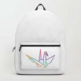 Sundara Tsuru Colors in White Backpack