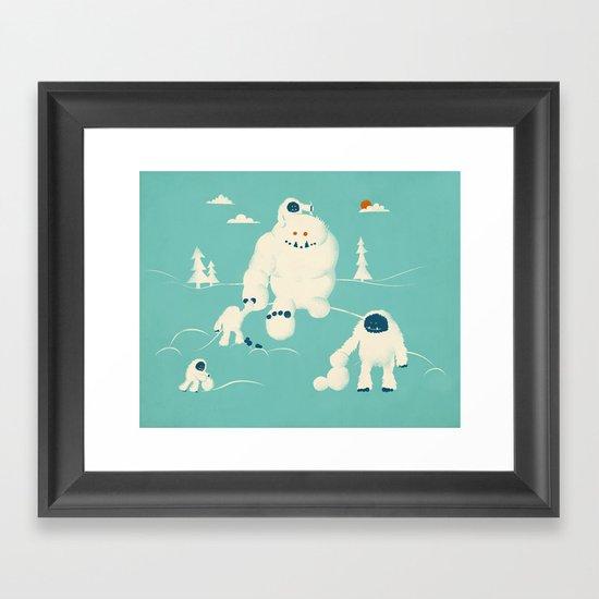 Abominable Snowman's Snowman Framed Art Print