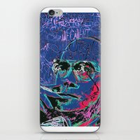hunter s thompson iPhone & iPod Skins featuring Hunter S. Thompson by Kori Levy illustration & design