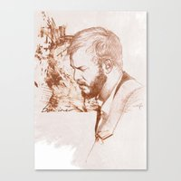bon iver Canvas Prints featuring Bon Iver (Justin Vernon) by ChrisGreavesCreative