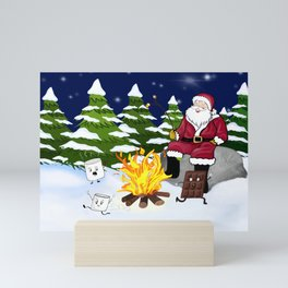 No More S'mores For Santa! Mini Art Print