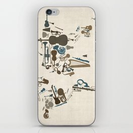 Musical Instruments Map of the World iPhone Skin