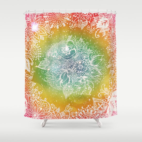 Rainbow Sherbet  Shower Curtain