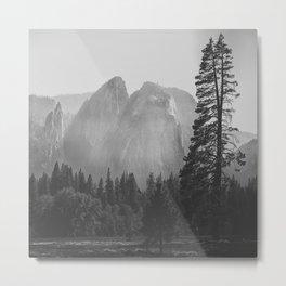 Yosemite Rocks Metal Print