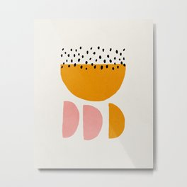 Mid century abstract art print Metal Print