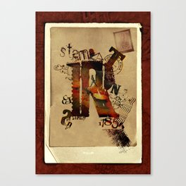 Stamp day Canvas Print