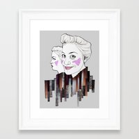 sisters Framed Art Prints featuring sisters by Alexandra Boman