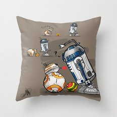 Droid Playtime Throw Pillow