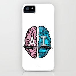 AI Nerd design - Artificial Intelligence Brain graphic iPhone Case