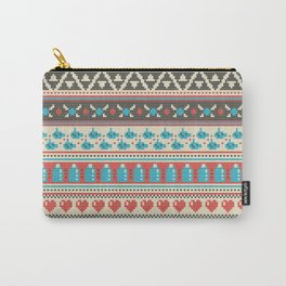 Fair-Hyle Knit Carry-All Pouch