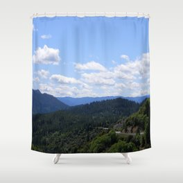 Over the valley.... Shower Curtain