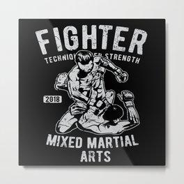 Fighter Mixed Martial Arts Bjj Jiu Jitsu Metal Print