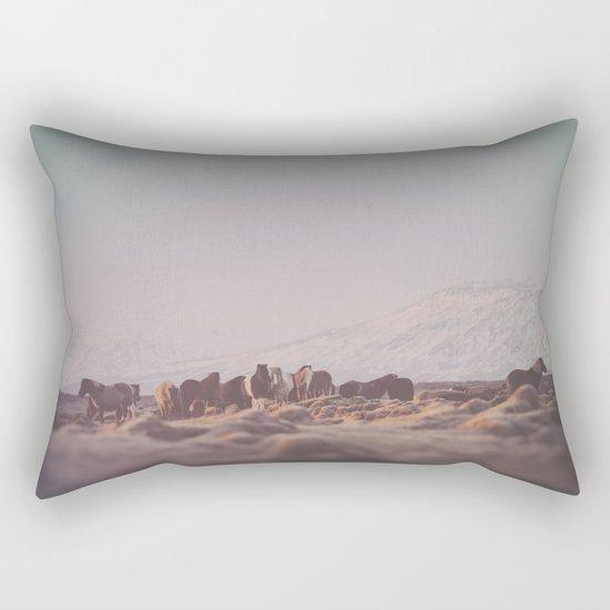 Icelandic Horses III Rectangular Pillow