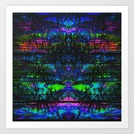 Trippy Forest Art Print
