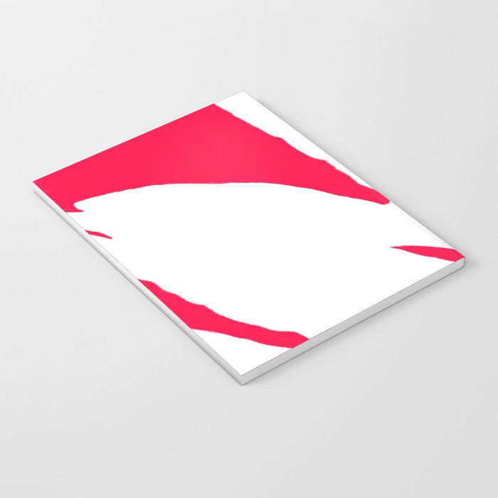 Missing White Fern on Bright Red Pink Fuchsia Notebook
