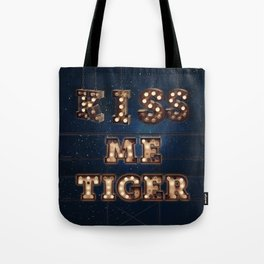 Kiss me Tiger -  Wall-Art for Hotel-Rooms Tote Bag