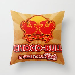 Final Fantasy VII - Choco-Bull Energy Drink Throw Pillow