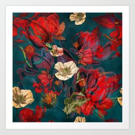 Flowers pattern Art Print