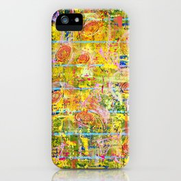 Informal Composition in Yellow iPhone Case