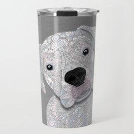 Cute White Boxer Travel Mug