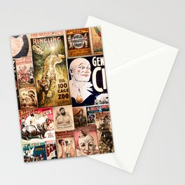 Circus Collage Stationery Cards