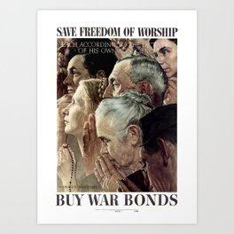 Save Freedom Of Worship Art Print